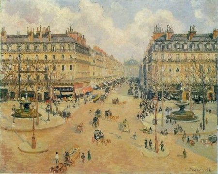 Pissarro - Avenue de l'Opera, Morning, Sunshine